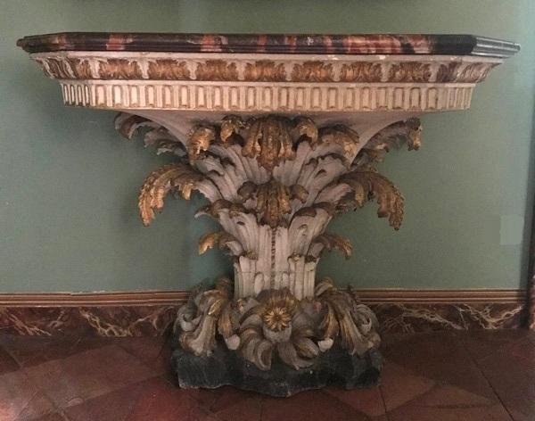 Console feuilles d'acanthe XVIIIème