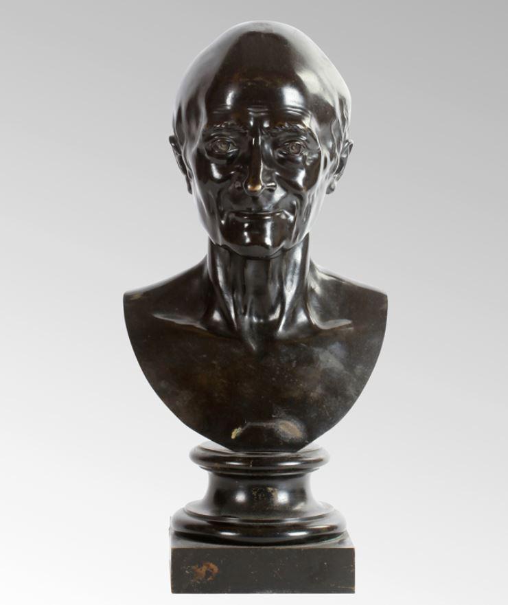 Buste de Voltaire en bronze
