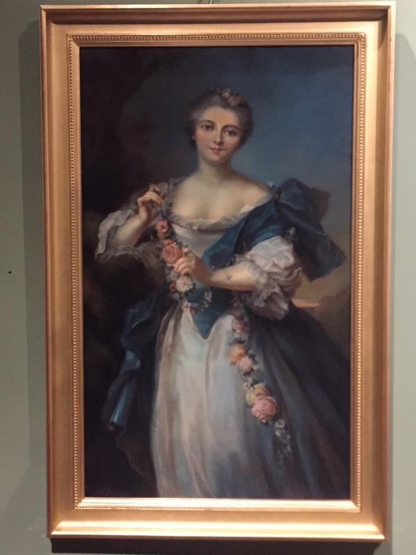 Pastel «portrait de Mme Adélaïde» XIXème siècle