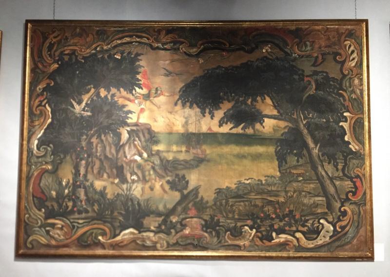 Ensemble de 3 toiles peintes XVIIème