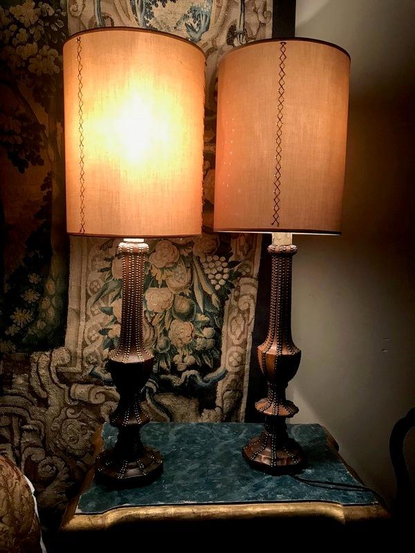 Paire de lampes de Pierre Lottier
