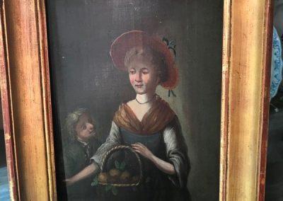 Tableau femme au panier 1