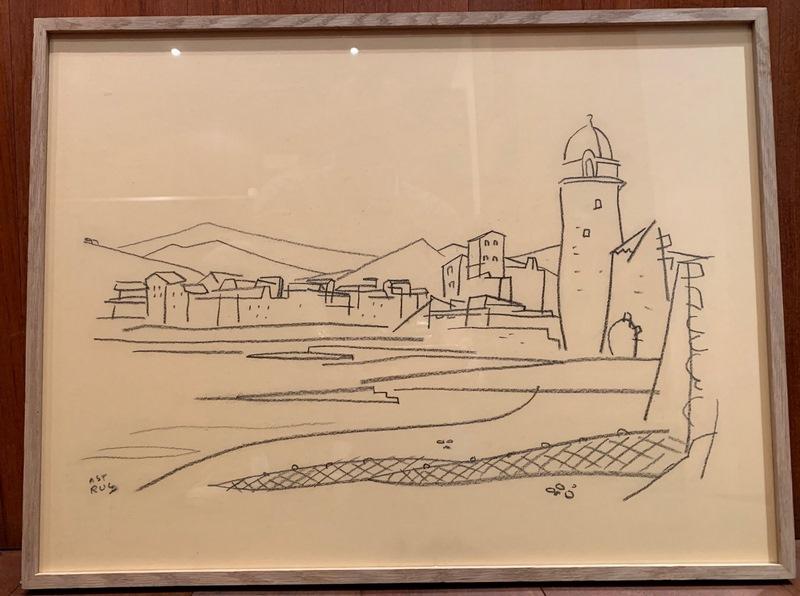 3 dessins de Collioure par Roger Astruc