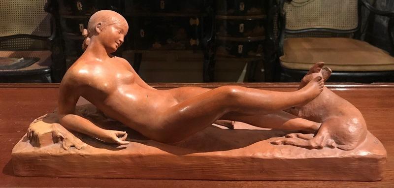 Sculpture en terre cuite de Ary Bitter