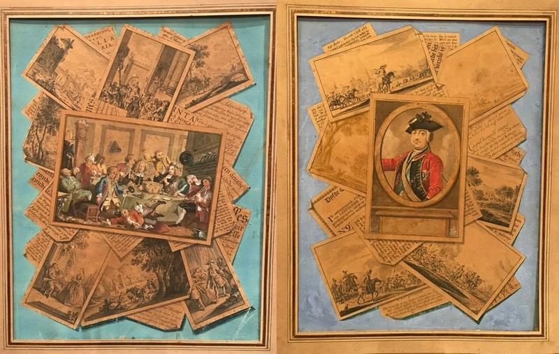 Paire de dessins en trompe l'œil XVIIIème