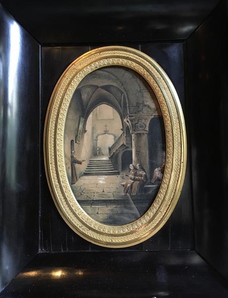 Dessin intérieur de monastère de François-Marius Granet