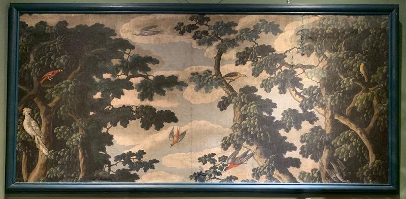 Grande toile peinte paysage XVIIIème
