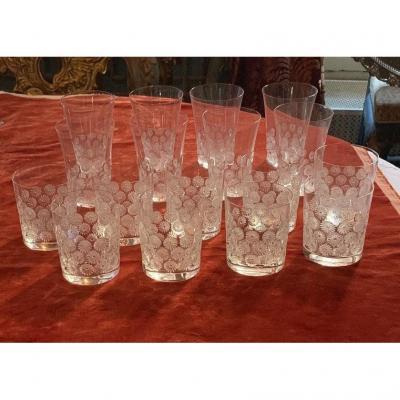 Service de verres en cristal Lalique