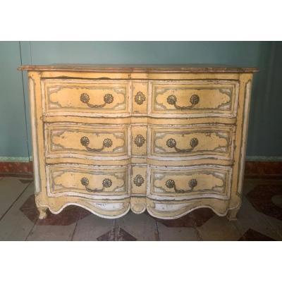 Commode Louis XIV en bois laqué