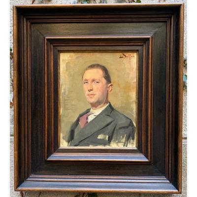 Tableau portrait par Louis Delfau 1932