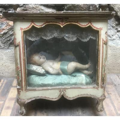 Enfant Jésus en cire XVIIIème siècle
