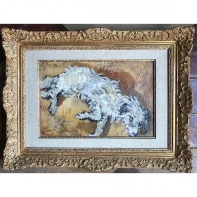 Tableau «Le chien briard» de Louis Valtat