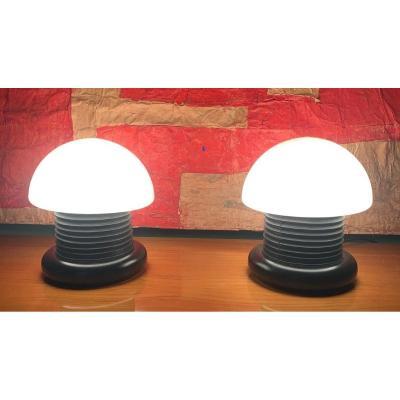 Paire de lampes champignons