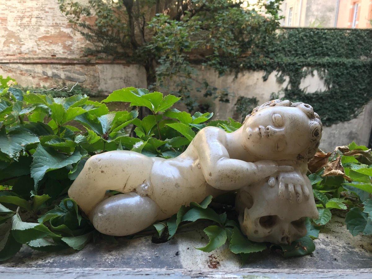 Enfant Jésus flamand XVIème siècle en albâtre